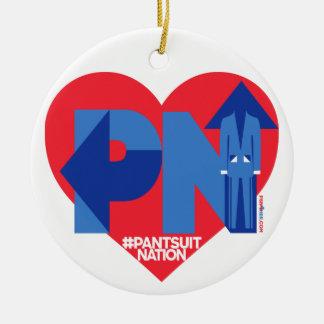 Ornement Rond En Céramique Coeur d'une nation de Pantsuit