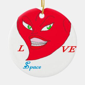 Ornement Rond En Céramique COEUR LOVE SPACE.png