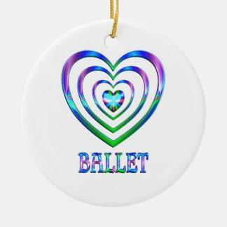 Ornement Rond En Céramique Coeurs de ballet