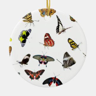 Ornement Rond En Céramique Collage de collection de papillon
