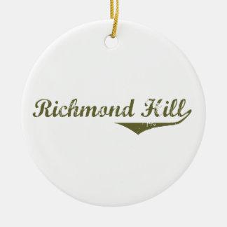 Ornement Rond En Céramique Colline de Richmond