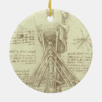 Ornement Rond En Céramique Colonne vertébrale d'anatomie humaine par Leonardo