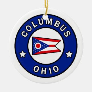 Ornement Rond En Céramique Columbus Ohio