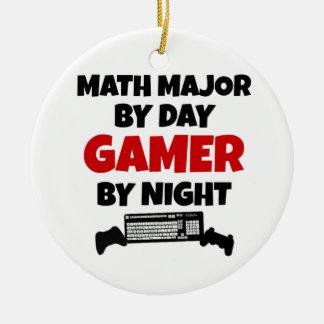 Ornement Rond En Céramique Commandant de maths Gamer