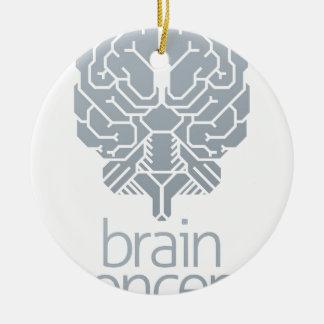 Ornement Rond En Céramique Concept de cerveau