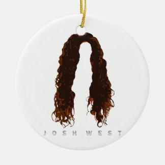Ornement Rond En Céramique Conception des cheveux de Josh