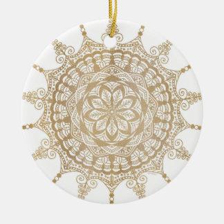 Ornement Rond En Céramique Conception d'or de mandala de  d'ornement de