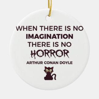 Ornement Rond En Céramique Conception effrayante effrayante de Halloween