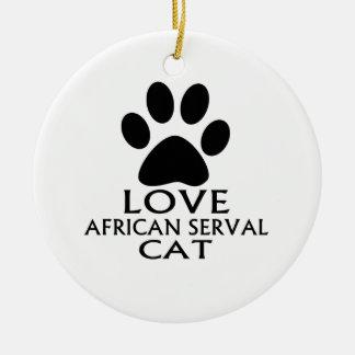ORNEMENT ROND EN CÉRAMIQUE CONCEPTIONS AFRICAINES DE CAT DE SERVAL D'AMOUR