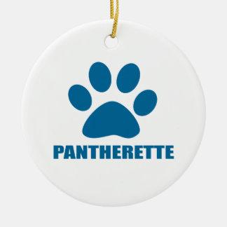ORNEMENT ROND EN CÉRAMIQUE CONCEPTIONS DE CAT DE PANTHERETTE