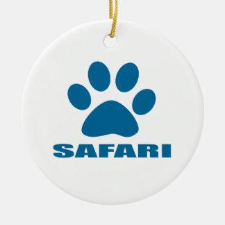 ORNEMENT ROND EN CÉRAMIQUE CONCEPTIONS DE CAT DE SAFARI