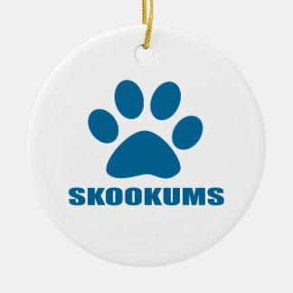 ORNEMENT ROND EN CÉRAMIQUE CONCEPTIONS DE CAT DE SKOOKUMS
