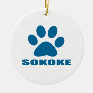 ORNEMENT ROND EN CÉRAMIQUE CONCEPTIONS DE CAT DE SOKOKE