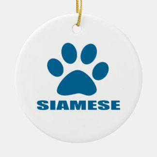 ORNEMENT ROND EN CÉRAMIQUE CONCEPTIONS DE CAT SIAMOIS
