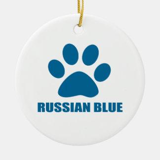 ORNEMENT ROND EN CÉRAMIQUE CONCEPTIONS RUSSES DE CAT BLEU