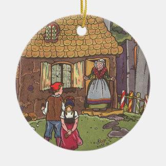 Ornement Rond En Céramique Conte de fées vintage, Hansel et Gretel par Hauman