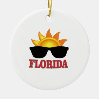 Ornement Rond En Céramique Cool de la Floride