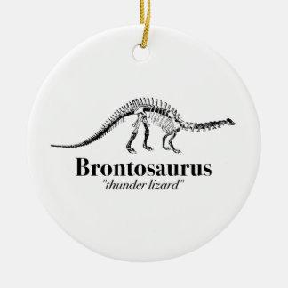 Ornement Rond En Céramique Cool de squelette de dinosaure de lézard de