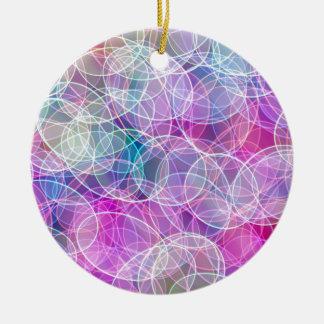 Ornement Rond En Céramique Copie abstraite d'art de bulle d'arc-en-ciel