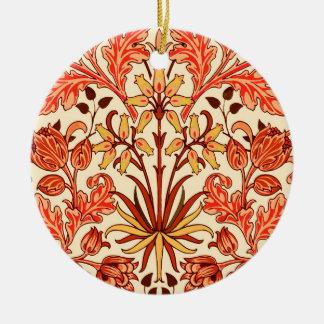 Ornement Rond En Céramique Copie, orange et rouille de jacinthe de William