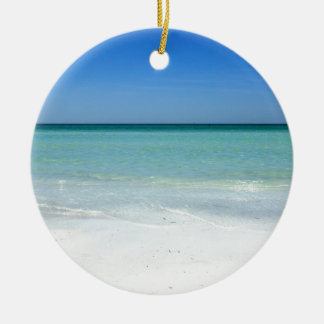 Ornement Rond En Céramique Côte du Golfe de plage de sièste
