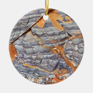 Ornement Rond En Céramique Couches naturelles d'agate dans un grès