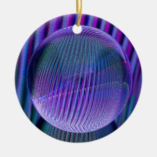 Ornement Rond En Céramique Couleurs de boule de cristal