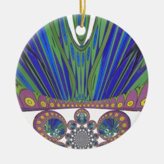 Ornement Rond En Céramique Couleurs décoratives africaines de conception