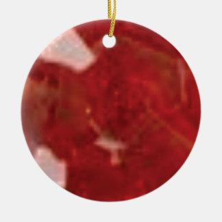 Ornement Rond En Céramique coupe de rouge d'art
