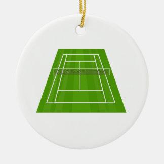 Ornement Rond En Céramique Court de tennis