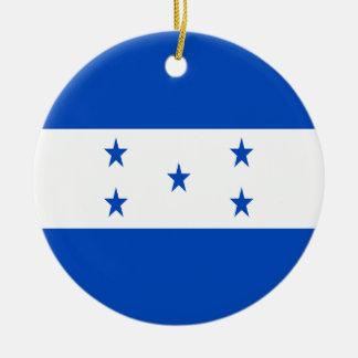Ornement Rond En Céramique Coût bas ! Drapeau du Honduras