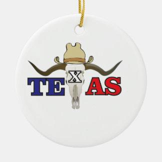 Ornement Rond En Céramique cowboy mort le Texas