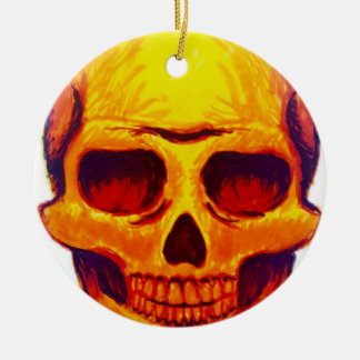 Ornement Rond En Céramique Crâne de croquis
