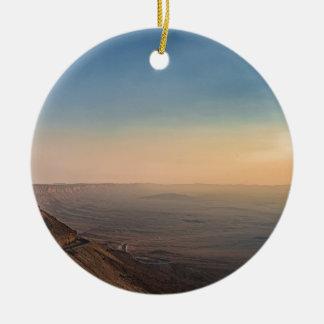 Ornement Rond En Céramique Cratère de Mizpe Ramon, Israël