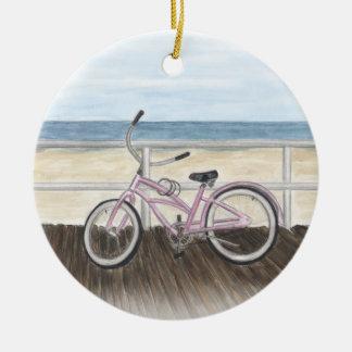 Ornement Rond En Céramique Croiseur de plage sur l'ornement de promenade