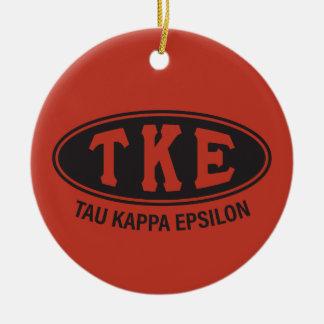 Ornement Rond En Céramique Cru de l'epsilon   de Kappa de Tau