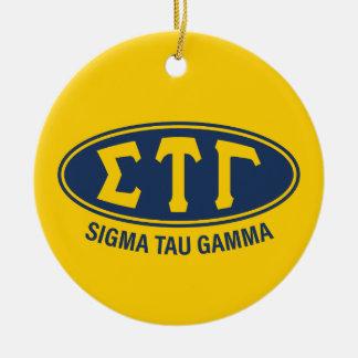 Ornement Rond En Céramique Cru du gamma   de Tau de sigma