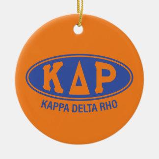 Ornement Rond En Céramique Cru du Rho | de delta de Kappa