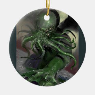 Ornement Rond En Céramique Cthulhu puissance en chevaux en hausse Lovecraft a