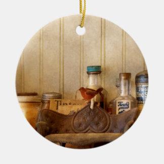 Ornement Rond En Céramique Cuisine - ingrédients - bouteilles de cuisine