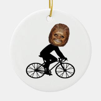 Ornement Rond En Céramique Cycliste légendaire