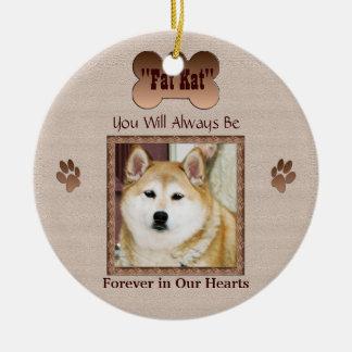 Ornement Rond En Céramique Dans la mémoire de votre chien
