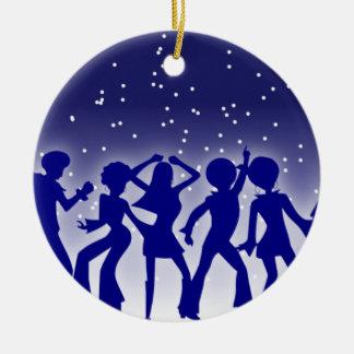 Ornement Rond En Céramique Danseurs de disco
