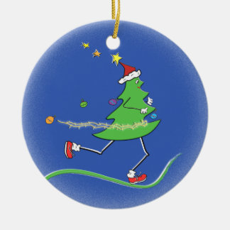 Ornement Rond En Céramique © de coureur d'arbre de Noël