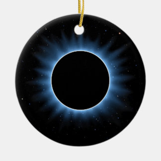 Ornement rond en céramique d'éclipse solaire
