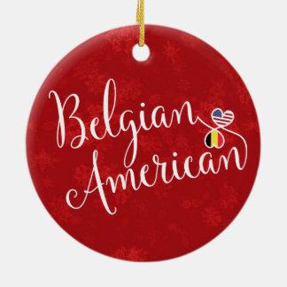 Ornement Rond En Céramique Décoration américaine belge de vacances de