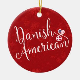 Ornement Rond En Céramique Décoration américaine danoise de vacances de