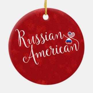 Ornement Rond En Céramique Décoration américaine russe de vacances de