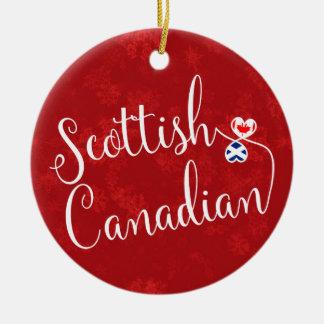 Ornement Rond En Céramique Décoration canadienne écossaise de vacances de
