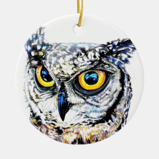 Ornement Rond En Céramique Décoration d'arbre de Noël de couche-tard